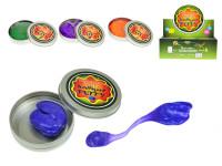 Inteligentní plastelína/modelína měnící barvu v plechovce 8x8cm - mix barev