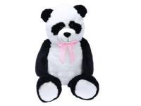 Panda plyšová 100 cm s mašlí
