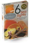 Svíčka čajová - aroma pomeranč a vanilka - 6 ks