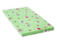 Dětská matrace 140x70x6 cm, molitan, zelená, Cuculo