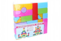 Kostky stavebnice 24ks plast v sáčku