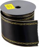 Stuha Smuteční saténová - 8 cm x 9,14 m černá