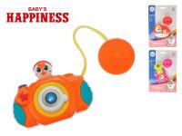Hudební nástroj/foťák 10-12 cm na baterie se světlem a zvukem Baby´s Happiness - mix variant či barev