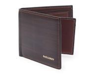 Elegantní tenká pánská peněženka s kresbou dřeva, eko kůže, hnědá