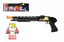 Pistole/Brokovnice na přísavky s doplňky plast 50cm