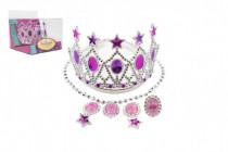Sada krásy korunka,náušnice,náhrdelník plast karneval