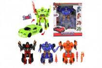 Transformer auto/robot plast 20cm 4 druhy
