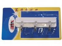 trojháček samolepicí 10,5cm plastový, BÍ + Cr