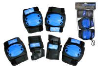 Chrániče větší 6 ks modro-černé