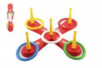 Házecí hra plast kříž s kruhy v síťce - VÝPRODEJ