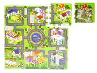 Pěnové puzzle Město 32x32cm 10m+