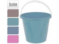 vědro 5l plastové, K - mix barev