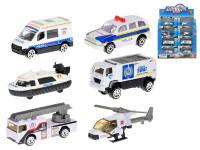 Vozidlo policejní 7-8 cm kov 1:64 volný chod - mix variant či barev