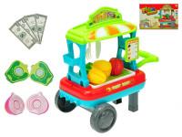 Vozík ovoce/zelenina pojízdný 23x33x20 cm s doplňky