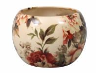 Obal na květník MANES ROSA keramický béžový lesklý d13x13cm