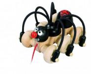 Černý pavouk tahací dřevo 11cm