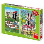 Puzzle Krtek se Raduje 2x48 dílků 18x26cm