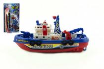 Loď/Člun plast 25cm na baterie stříkací vodu