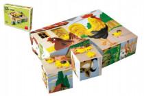 Kostky kubus Domácí zvířátka dřevo