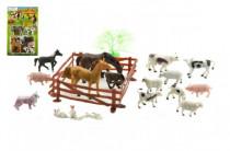 Zvířátka farma 8cm s doplňky