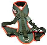 Postroj nylon Merhi Long - černo/červený ManMat vel. XS - krk 32 cm
