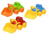 Traktor veselý s nakladačem 26 cm - mix barev