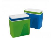 lednice KRIOS chladicí 23l 39x40x23cm, 2 víka (el.+ klasické) - mix barev