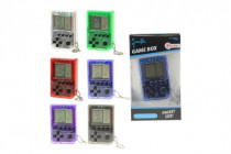 Přívěšek digitální hra Brick Game Tetris plast 5cm na baterie - mix variant či barev