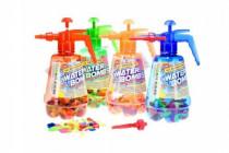 Pumpa na vodní bomby + bomby 100ks plast 30cm - mix barev