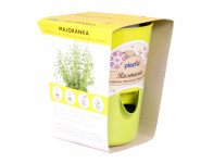 Květník MINIZAHRÁDKA - MAJORÁNKA substrát+osivo d11cm