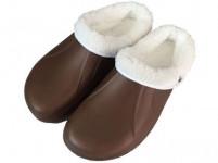 pantofle gumové zimní pánské vel. 44 (pár) - mix barev