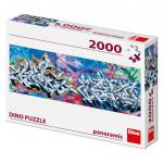 Puzzle 2000 dílků: Grafitti panoramic