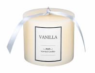 Svíčka GLASS VÁLEC vanilka d10x8cm