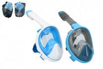 Šnorchlovací potápěčská maska pro dospělé 25cm vel. S-M - mix barev
