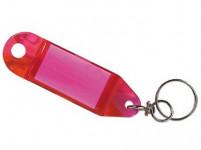 visačka na klíče 8,0x2,4cm plastová, s krouž. (4ks) - mix barev