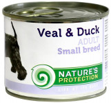 Nature's Protection Dog konz.Small telecí/kachna 200 g