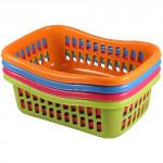košík TIN 22x16x8cm plastový (malý) - mix barev