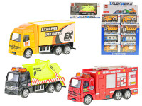 Auto nákladní kov 10 cm zpětný chod - mix variant či barev - VÝPRODEJ
