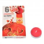 svíčka čajová vonná ROMANTIKA (6ks) (hoří 6x3-4hod)