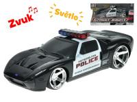 Ford GT policie 20 cm 1:24 na setrvačník na baterie se světlem a zvukem