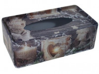 krabička na kapesníčky plechová 21,5x12x7cm KOUZLO VÁNOC