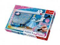 Puzzle + magický fix Princezny - hledání střevíčku/Disney 54 dílků