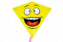 Drak létající smajlík plast 68x73cm
