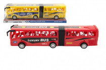 Autobus plast 47cm na setrvačník v blistru - mix barev