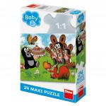 Puzzle 24 dílků: maxi Krtek narozeniny