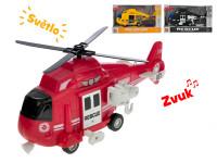 Helikoptéra 1:16 28 cm na setrvačník na baterie se světlem a zvukem - mix variant či barev