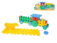 Kostky konstrukt traktor 38 cm + zvířátko