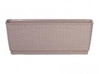 truhlík RATOLLA PW 38,6x15,4x14cm BÉŽ tm. (7529U) závěs. s miskou