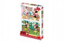 Puzzle Pracovitá Minnie 2x66 dílků 32,3x22cm