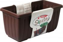 Plastia truhlík samozavlažovací Siesta LUX - čokoládový 40 cm